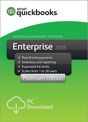 QuickBooks Desktop Enterprise Platinum 2018 1-User for Windows (1 User) [Download]