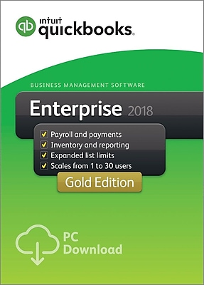 QuickBooks Desktop Enterprise Gold 2018 2-User for Windows (1-2 Users) [Download]