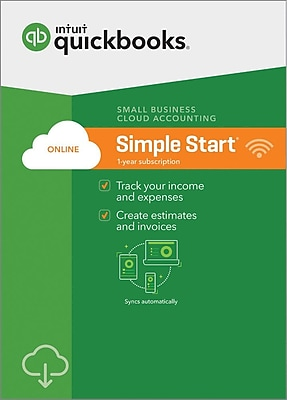 QuickBooks Online Simple Start 2018 for Windows (1 User) [Download]