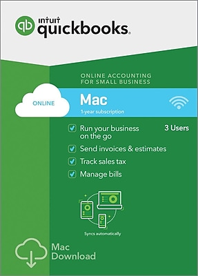 QuickBooks Online for Mac 2018 (1-3 Users) [Download]
