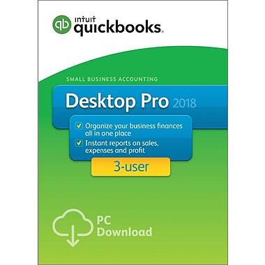 QuickBooks Desktop Pro 2018 3-User for Windows (1-3 Users) [Download]