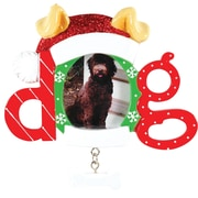Christmas Dog Frame Ornament (PF1404)