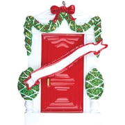 Red Door House Ornament (OR229-R)
