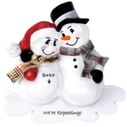 We're Expecting Snowman Couple Ornament (OR807)