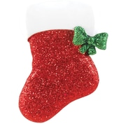 Red Glitter Stocking Ornament (OR1428)