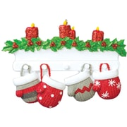 Mitten Family of 4 Ornament (KA968-4)