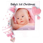 Baby's First Christmas-Girl Ornament (PF600-G)