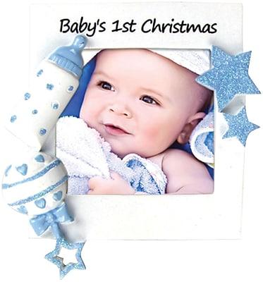 Baby's First Christmas-Boy Ornament(PF600-B)