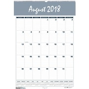 "2018-2019 House of Doolittle Academic Monthly Wall Calendar, Bar Harbor Blue, 22"" x 31"" (HOD-354)"