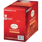 Twinings® English Breakfast Black Decaf Tea, Keurig® K-Cup® Pods, Decaffeinated, 24/Box (F08757)
