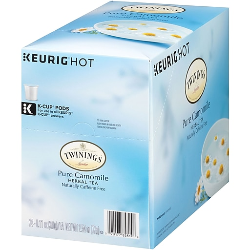 Twinings Chamomile Herbal Tea, Keurig K-Cup Pods, 24/Box (F08761)