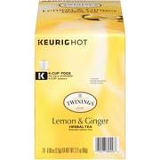 Twinings® Lemon & Ginger Herbal Tea, Keurig® K-Cup® Pods, 24/Box (F11019)