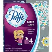Puffs Cube Ultra Soft 2 Ply Facial Tissues, 4 Cubes, 56 Tissues/Cube