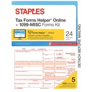 Staples 2017 Tax Forms, 1099-Misc IJ/L Frms and TFH Online 24-pk