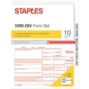 Staples 2017 Tax Forms, 1099-DIV, 10-Pack