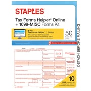 Staples 2017 Tax Forms, 1099-Misc IJ/L Frms and TFH Online 50-pk