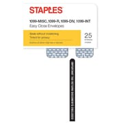 Staples 2017 1099-Misc Tax Envelopes, 25 -Pack