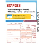 Staples 2017 Tax Forms, 1099-Misc IJ/Lsr Frms TFH Online & Env 12pk