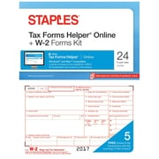 Staples 2017 Tax Forms, W-2 Tax IL/L Frms and TFH Online 24-pk