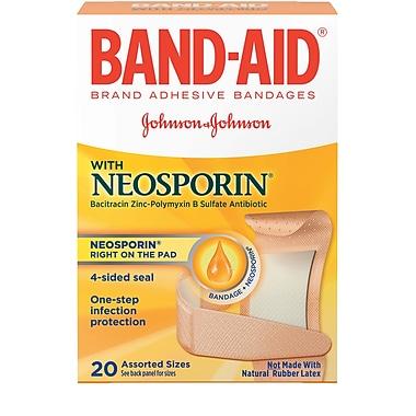 BAND-AID Brand Adhesive Bandages Plus Antibiotic, Assorted Sizes, 20 Count/Box (Model: 5570)