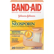 BAND-AID Brand Adhesive Bandages Plus Antibiotic, Assorted Sizes, 20 Count/Box (Model: 5570)