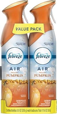 Febreze Air Freshener, 2 pack, Fresh-Fall Pumpkin, 17.6 oz