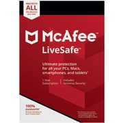 McAfee LiveSafe Device Attach for Windows/Mac (1 User) [Download]