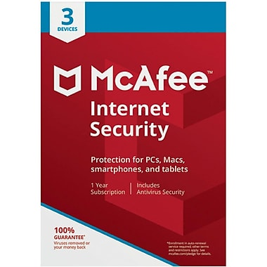 McAfee Internet Security 3 Device for Windows (1-3 Users) [Download]