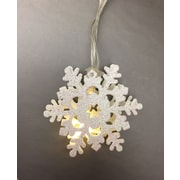 10 Snowflakes String Lights with Timer (82737)