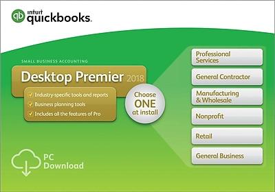 QuickBooks Desktop Premier 2018 1-User for Windows (1 User) [Download]