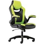 HON Sadie Leather Racing Style Gaming Chair, Flip-Up Arms, Green/Black (BXSVST914)