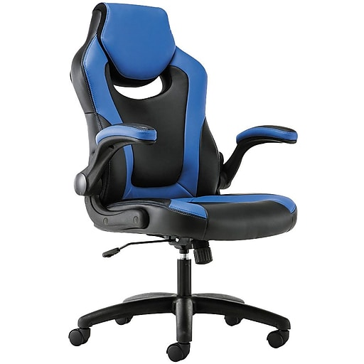 Basyx By Hon Softhread Leather Racing Style Gaming Chair