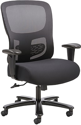 Sadie Big & Tall Chair with Adjustable Arms, Black (BSXVST141)