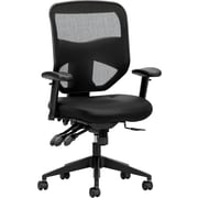 basyx by HON HVL532 Fabric/Mesh High-Back Task Chair, Black, 2-Way Arms (BSXVL532SB11), NEXT2017 NEXTExpress