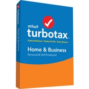 TurboTax Home & Business Federal + E-File + State 2017 (1 User) [Boxed]