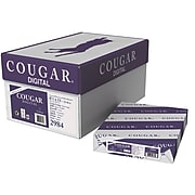 """Cougar® 100 lbs. Digital Smooth Cover, 8 1/2"""" x 11"""", White, 200/Ream"""