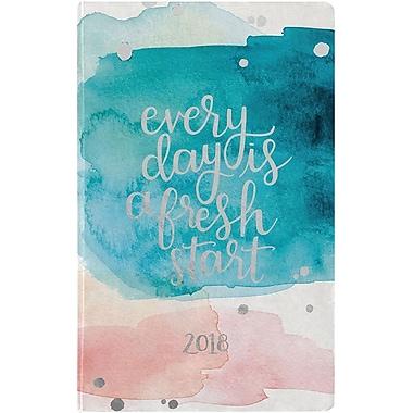 Erin Condren 2018 Hardbound Lifeplanner™- Watercolor Splash, 5x8, Horizontal Layout