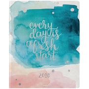 Erin Condren 2018 Hardbound Lifeplanner™- Watercolor Splash, 8x10, Horizontal Layout