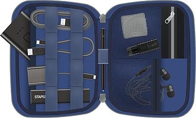 Staples Mobile Accessory Organizer, Gray/Blue