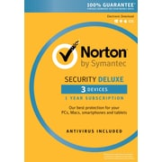 Norton Security Deluxe 3 Devices 12 month for Windows (1 User) [Download]