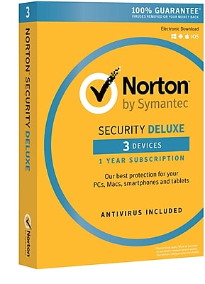 Norton Security Deluxe - 3 Device for Windows/Mac/Andriod/iOS [Boxed]