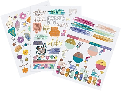 Erin Condren Motivation + Celebrations Sticker Pack (ACC STKR-MC)
