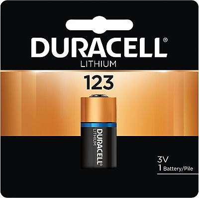 Duracell® 123 Lithium Battery, 1/Pack