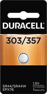 Duracell® 303/357 Silver Oxide Battery, 1/Pack