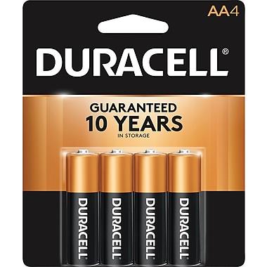 Duracell® Coppertop® AA Alkaline Batteries, 4/Pack