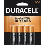 Duracell® Coppertop® AA Alkaline Batteries, 4/Pack