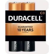 Duracell® Coppertop® C Alkaline Batteries, 8/Pack Recloseable