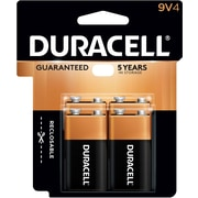 Duracell® Coppertop® 9V Alkaline Batteries, 4/Pack