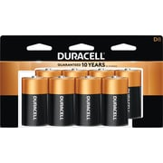 Duracell® Coppertop® D Alkaline Batteries, 8/Pack