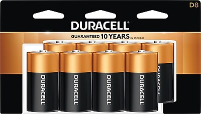 Duracell® Coppertop® D Alkaline Batteries, 8/Pack